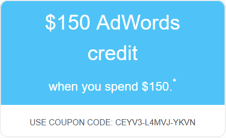 $150 AdWords Credit
